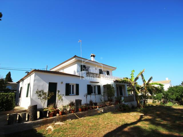 Large south facing chalet in Punta Prima,Menorca