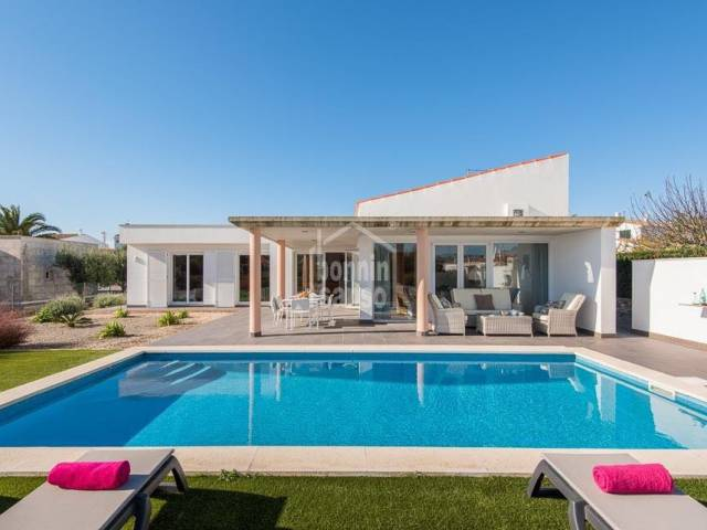 Modern villa with swimming pool in Binidali. Menorca