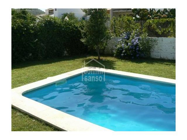 Modern apartment with pool in Es Mercadal, Menorca.