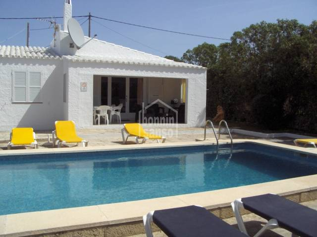 Three bedroom detached villa with pool near Binibeca Beach, Menorca