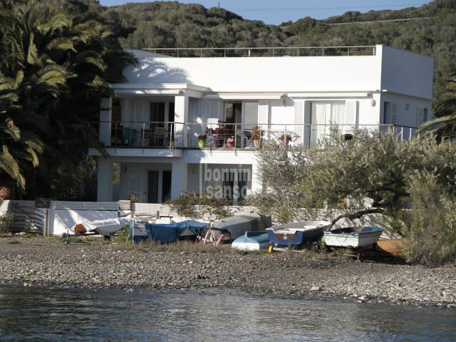 Stunning sea side home in Cala Venecia, Mahon harbour