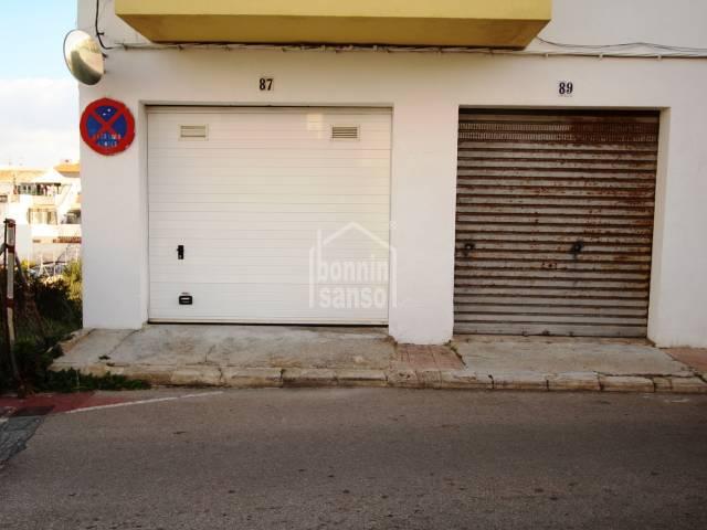 Garaje cerca del centro de Mahon, Menorca