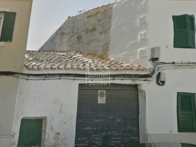 Building plot with garage for developement in Es Castell, Menorca