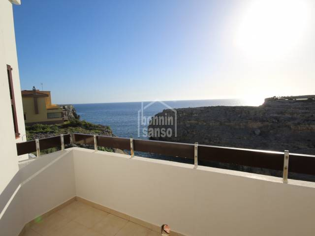 Front line apartment with beautiful sea views in Los Delfines, Ciutadella, Menorca