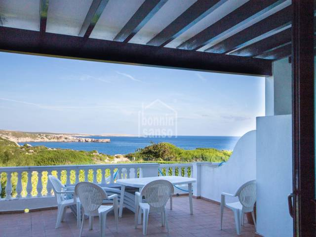 Fabulous views from this front line apartment in Arenal D'en Castell, Menorca