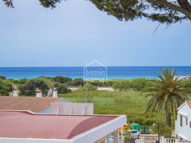 Charming first floor apartment with views over Son Bou beach, Menorca