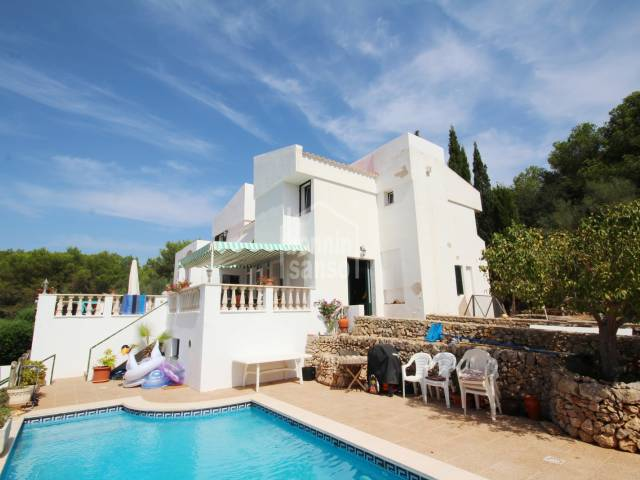 Villa located in the urbanization of Sa Roca, Mercadal, Menorca