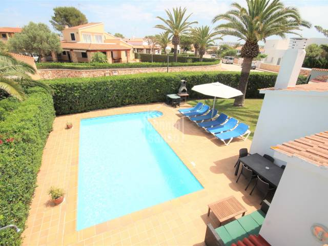 Refurbished villa with pool in Cala'n Bosch, Ciutadella, Menorca.