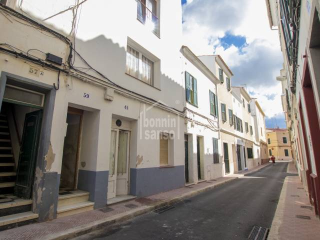 Two storey  property in the center of Mahón, Menorca