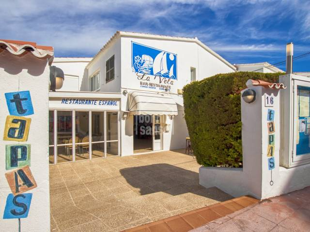 Restaurant LA VElA, as a going concern in Calan Porter, Menorca.