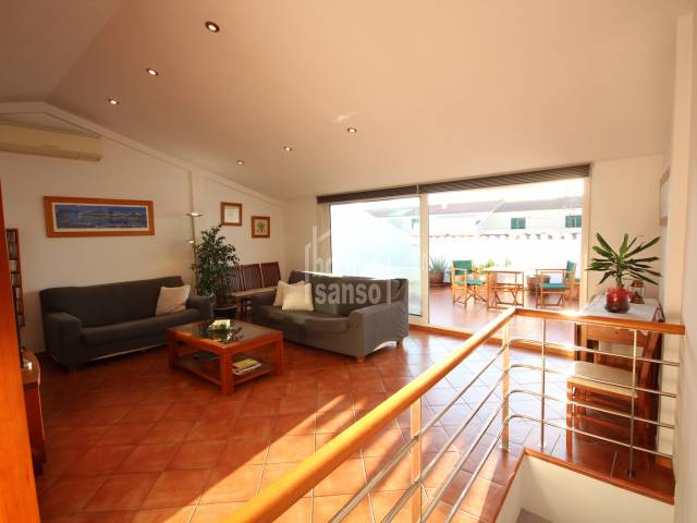 dining living room - Duplex apartment with garage in Ciutadella, Menorca