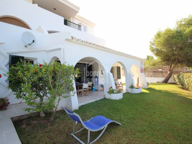 Ground floor apartment with secluded garden, over looking the golf course at Son Parc. Menorca