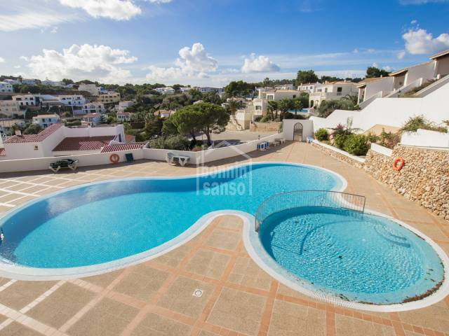 Wonderful views over the rugged coastline, ground floor apartment in Addaya, Menorca