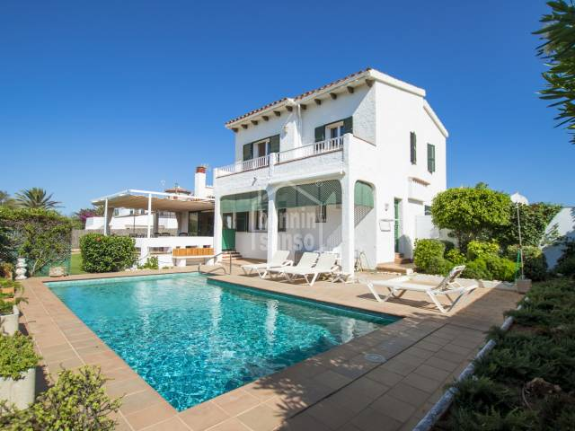Villa with seas views in S'Algar, Menorca.