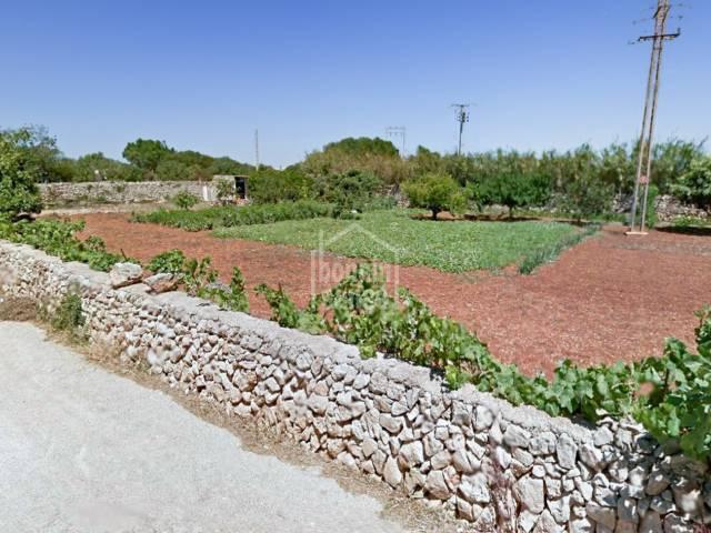 Terreno rustico edificable a las afueras de Sant Lluís, Menorca