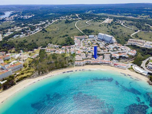 Two front line apartments with excellent views of the sandy beach in Arenal, Menorca.