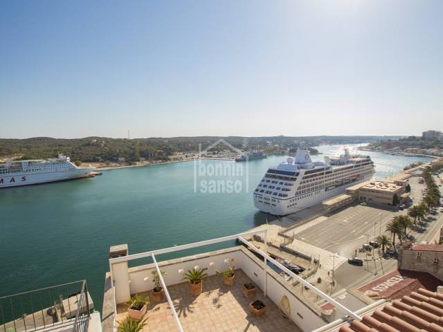 Three properties in the same building in the center of Mahon, Menorca