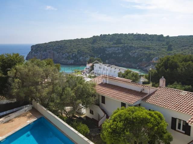 Modern terracaced house by Cala Canutells beach Minorque n