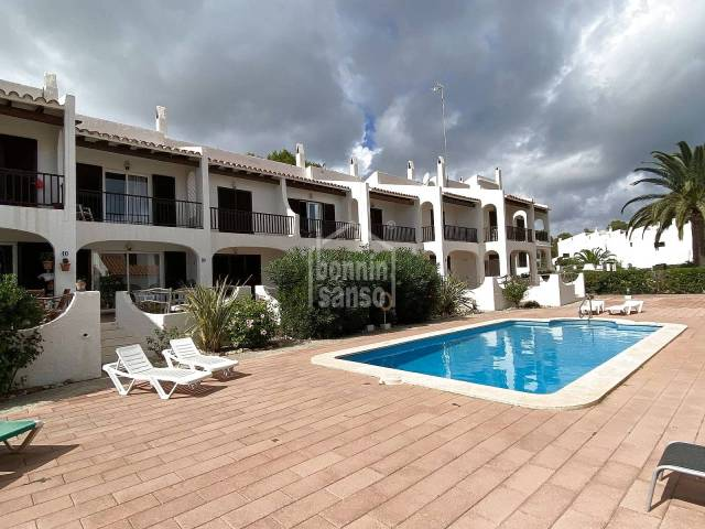 In Son Parc, Menorca, Attractive semi-detached duplex house situated very close to the golf course.