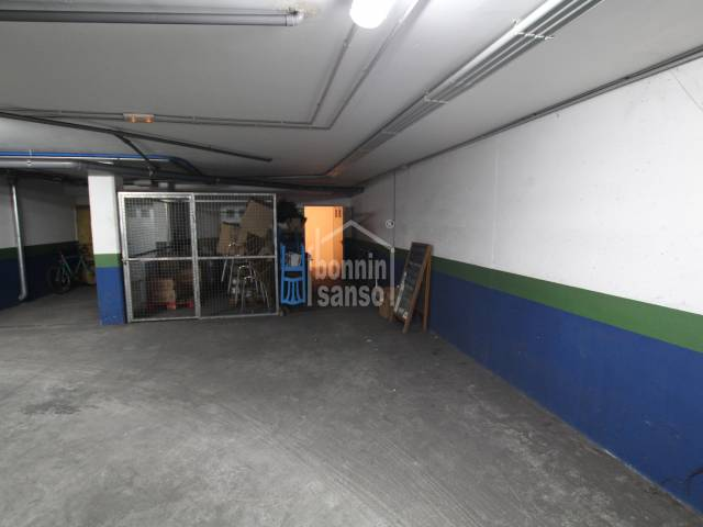 Parking space with store room near the center of Sant Lluis, Menorca