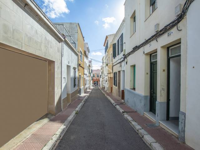 Interesting opportunity, town house in Mahon divided in two flats, Menorca