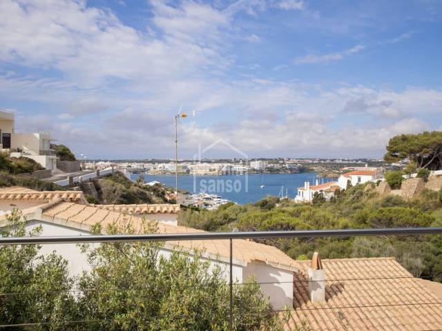 Magnificent villa with Panoramic views of the Port of Mahon, Menorca.