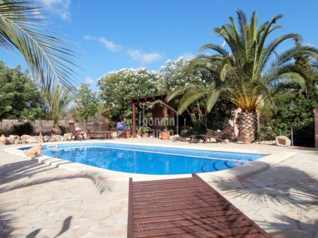 "Fabulous Stone country house ""Sa Torre"" with panoramic views, approx. 15.000m² land,  3 bedrooms and pool in Son Carrio."