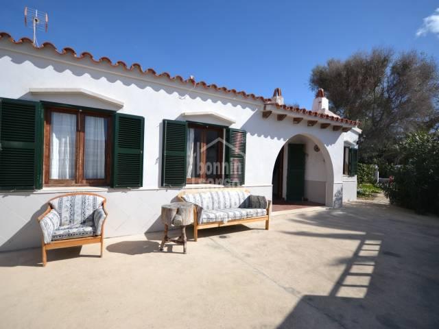 Chalet adosado en Cap D'Artrutx, cerca de la playa de Calan Bosch, Ciutadella, Menorca