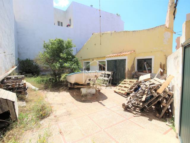 Front, Garden, Patio, Terrace - Corner house with patio for renovation or new building in Ciutadella, Menorca