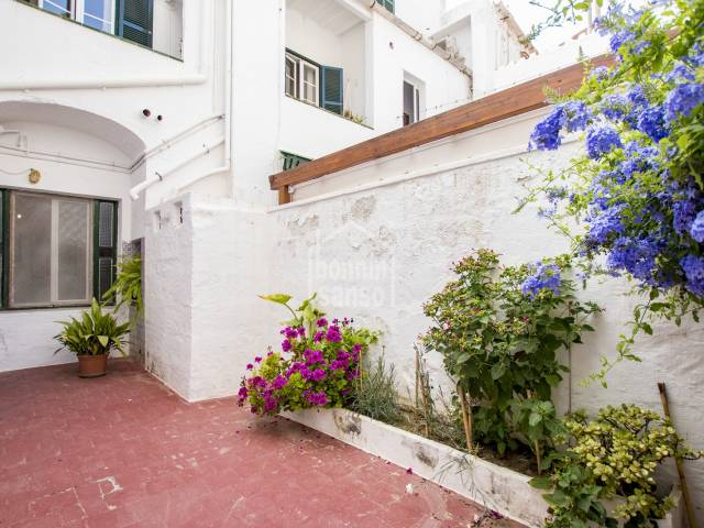 A ground floor apartment next to the market in the centre of Mahon, Menorca.