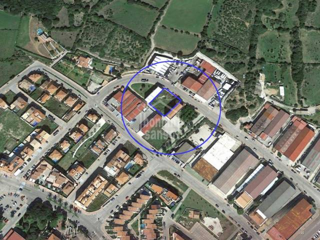 Two adjoining plots on the industrial estate of Alayor, Menorca.