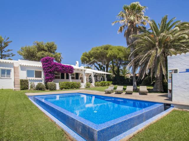 Stunning villa with sea views and tourist licence,  Cap Den Font, Menorca