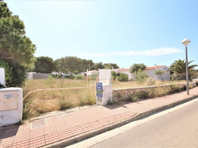 Well situated building plot for a detached villa and pool only few steps from the Calan Blanes beach , Cuidadela, Menorca.