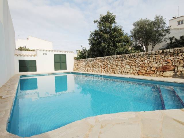 Super town house with pool in San Luis, Menorca.