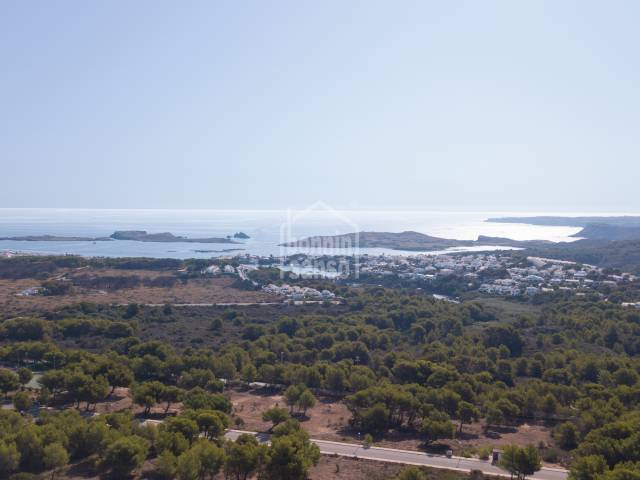 Building plot with panoramic views Coves Noves Menorca