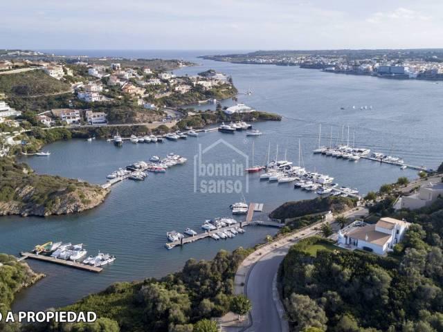 Front line plot. Cala Llonga Port of Mahon Menorca
