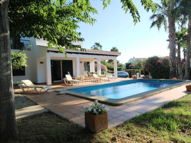 Stunning gardens and house in Binisafua Playa, Sant Lluis, Menorca
