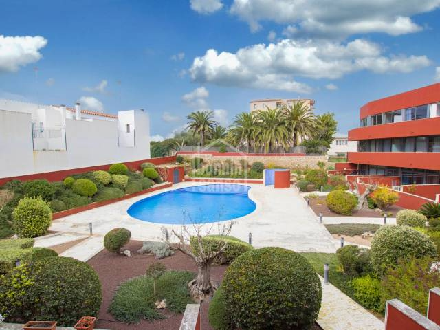 Large and modern apartment in a upmarket complex with gardens and pool Es Castell Menorca