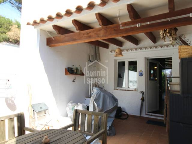 Semi-detached duplex apartment a few meters from the beach of Cala Blanca, Ciutadella, Menorca