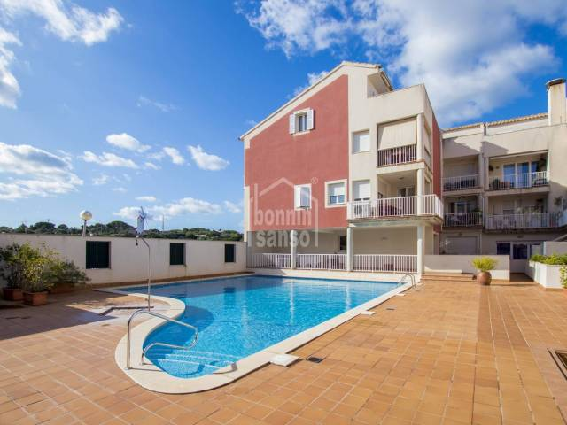 Attractive duplex with pool, and parking in Es Castell, Menorca