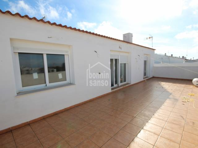 Flat with a large terarce close to the centre of Ciudadela, Menorca