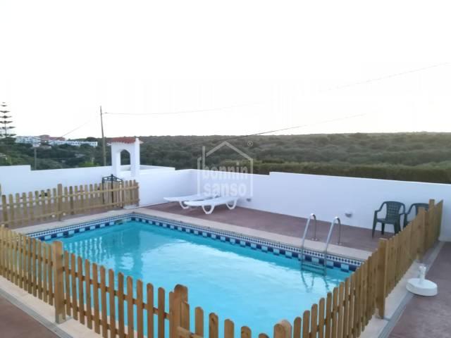 Two villas on private plot in Calan Porter, Alayor, Menorca.