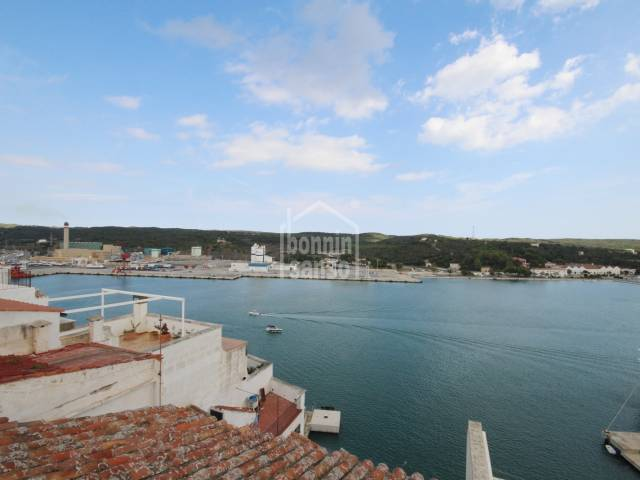 Beautiful town house including many original features overlooking Mahon harbour.