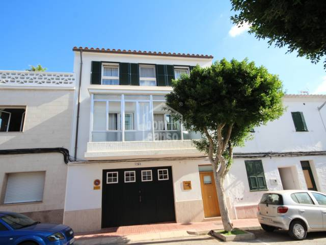 Fantastic family home with garage in the centre of Es Castell, Menorca