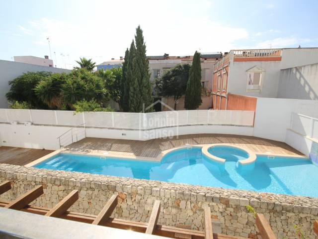 Beautiful apartment of recent construction with elevator and pool in Ciutadella, Menorca