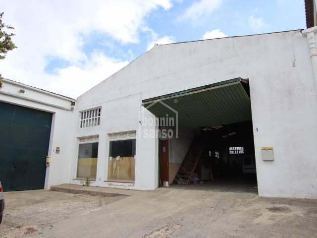 Factory in Es Castell Industrial Estate. Menorca