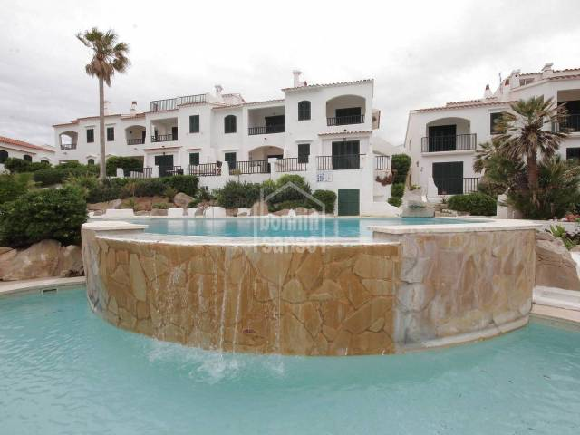 Front line of beach, bungalow style apartment. Son Parc Menorca.