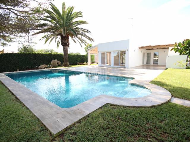 Swimming Pool, Front - Spectacular first line villa with direct access to Calan Brut, Ciutadella, Menorca