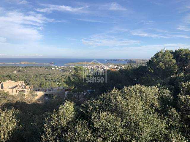 building plot with panoramic views, Coves Noves Addaya Menorca