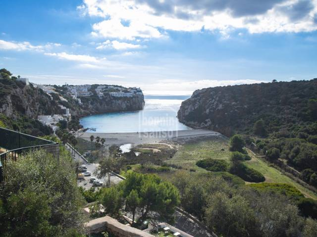 Two apartments sold together, stunning views over Calan Porter beach, Menorca
